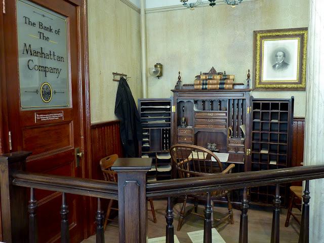 Banco de la Manhattan Company en el Erie Canal Museum de Syracuse