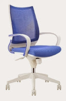 Sweetwater Blue Mesh Back Office Chair by Woodstock