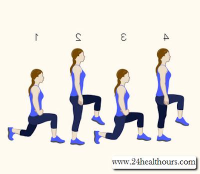 Gerakan Walking Lunges