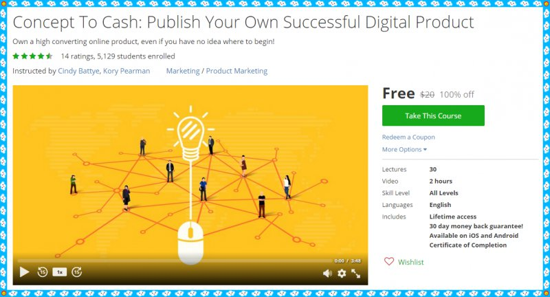 100 Free Udemy Course Concept To Cash Publish Your Own