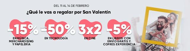 Top 10 ofertas promoción San Valentín de Fnac.es