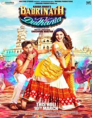 Badrinath Ki Dulhania 2017 Full Hindi Movie DVDRip Free Download