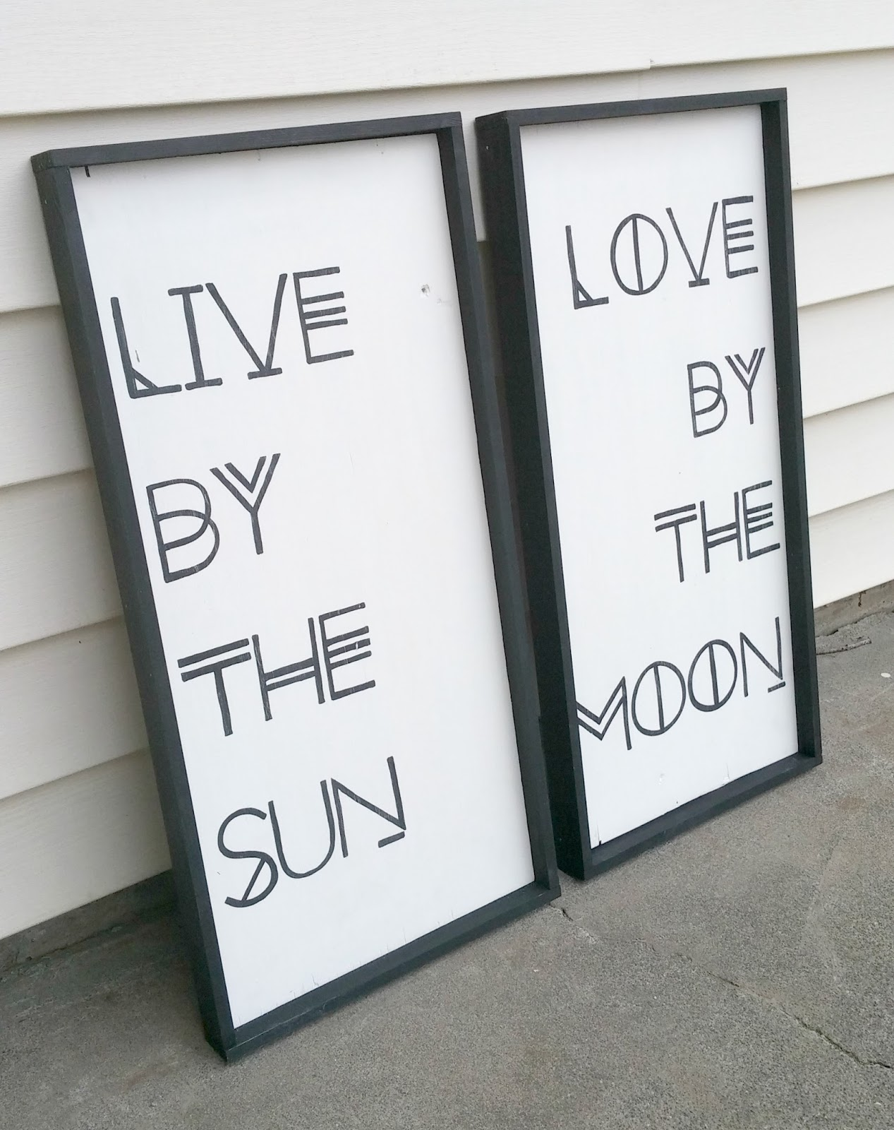 DIY Inspirational Quote Sign for outdoors
