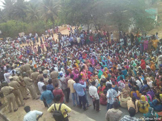 pf protest at bangalore