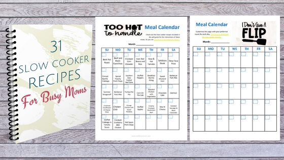 Slow cooker recipes and meal calendar printables for meal planning