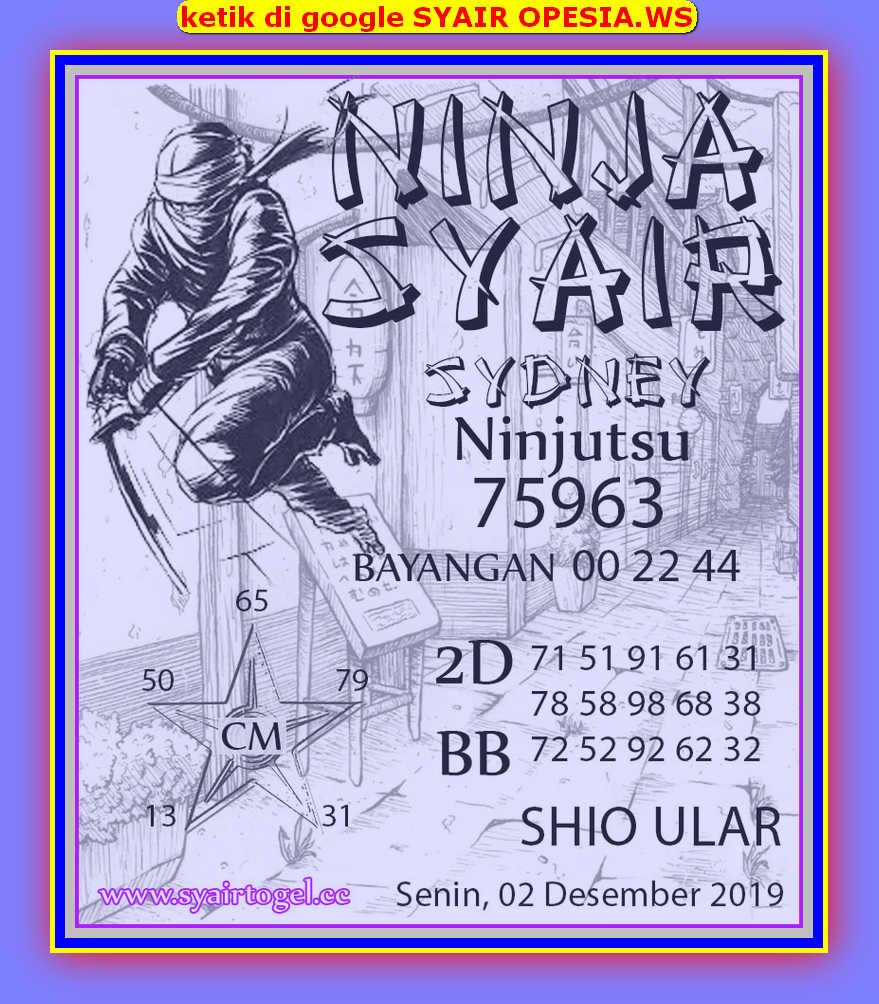 Kode syair Sydney Senin 2 Desember 2019 96