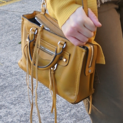 olive pants with mustard rebecca minkoff micro regan harvest gold bag | awyafromtheblue