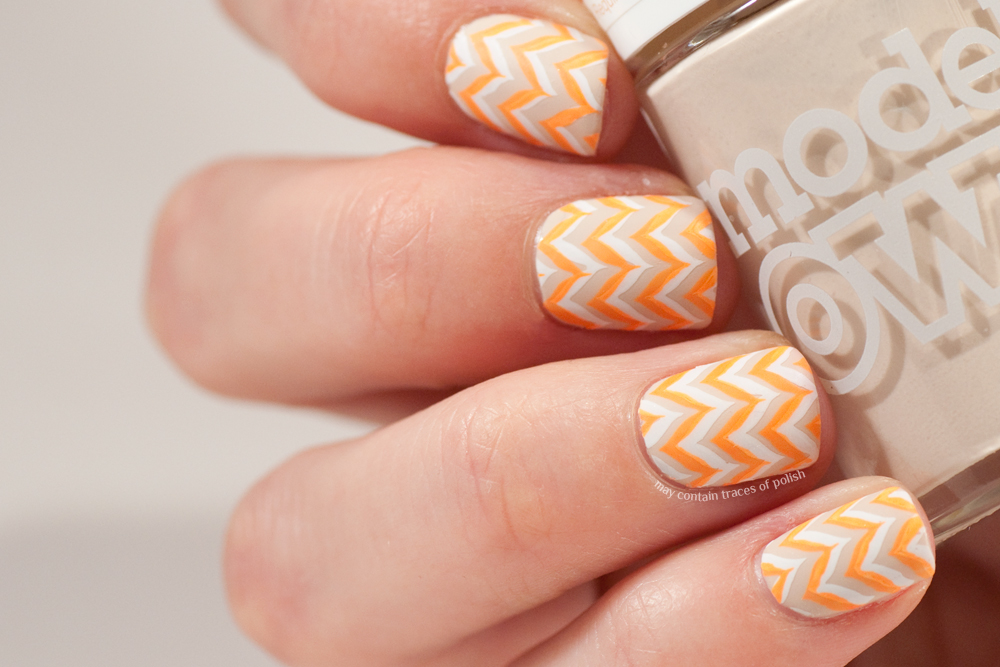 Great Nail Art Ideas Hot Pink Or In This Case Orange May Contain Traces Of Polish