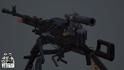 Arma3用Veteran MODのNSV重機関銃