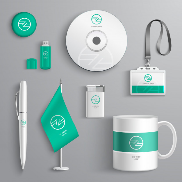 Corporate Identity Design Free Vector