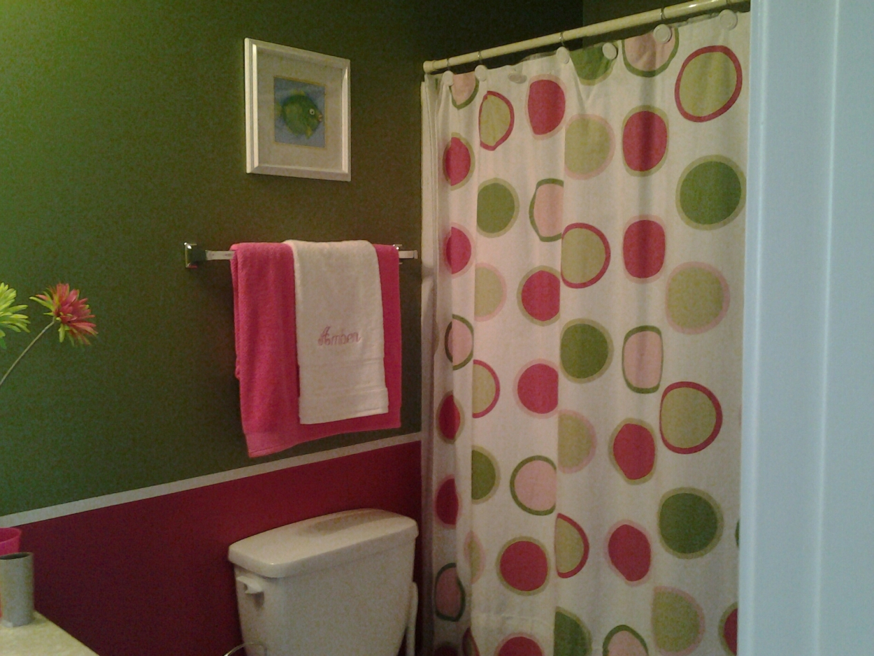 The Pink And Green Bathroom