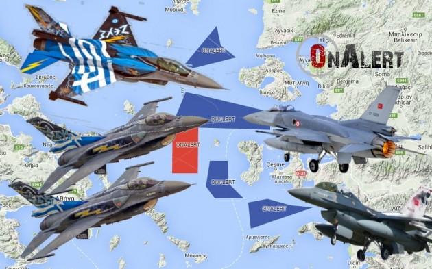 Συναγερμός στο Αιγαίο – Σε ετοιμότητα πενταλέπτου είναι οι Έλληνες πιλότοι για να αναχαιτίσουν τουρκικά μαχητικά – ΧΑΡΤΗΣ