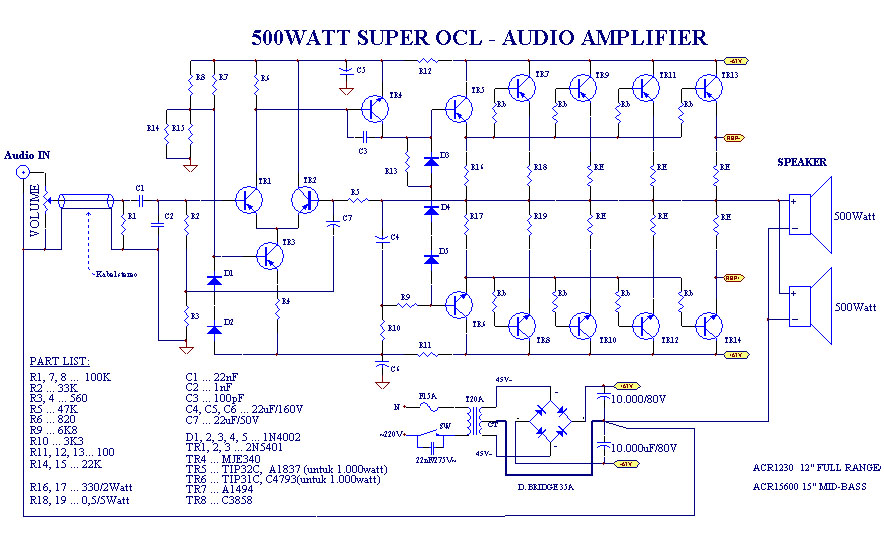 Mini 40 Watt Audio Car  lifiers Using Ha13001 moreover Cheap Car Subwoofer Filter Circuits likewise Power  lifier Ocl 70 Watts Using Ic 741 2n3055 further  further High Current Auto Cut Off Battery Charger Circuit Using A Single Transistor. on car audio amplifier circuit diagram