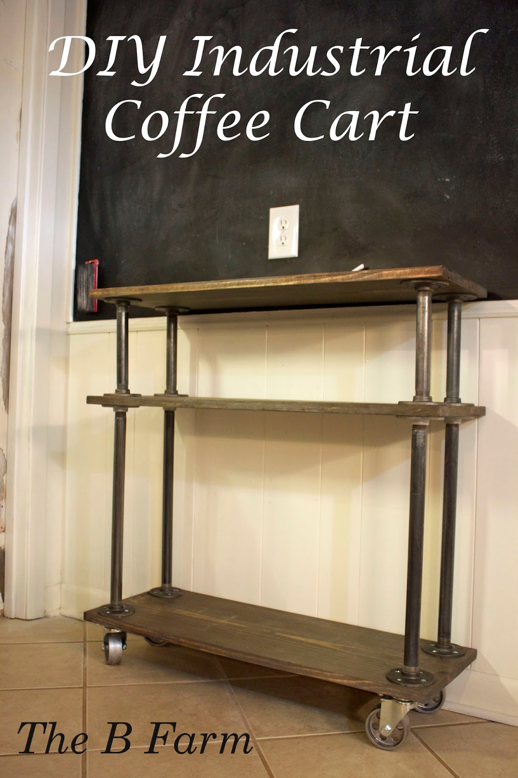 kitchen coffee cart fall curtains project diy industrial