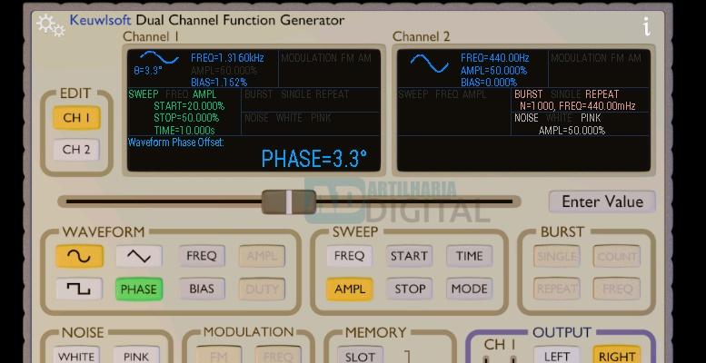 Function Generator - Aplicativo gratuito para engenharia elétrica, eletrônica, robótica e afins!