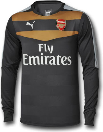 This is the new anthracite Arsenal 2015-16 Goalkeeper Home Jersey. 9cacb45e3
