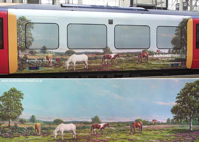 SWT M P Davey art New forest train
