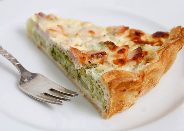 Leeks and Blue Cheese Tart - Τάρτα με πράσα και μπλέ τυρί