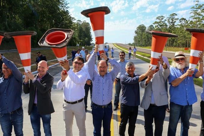 GRAVATAÍ | Sartori inaugura viaduto Itacolomi e vistoria trechos da ERS-118