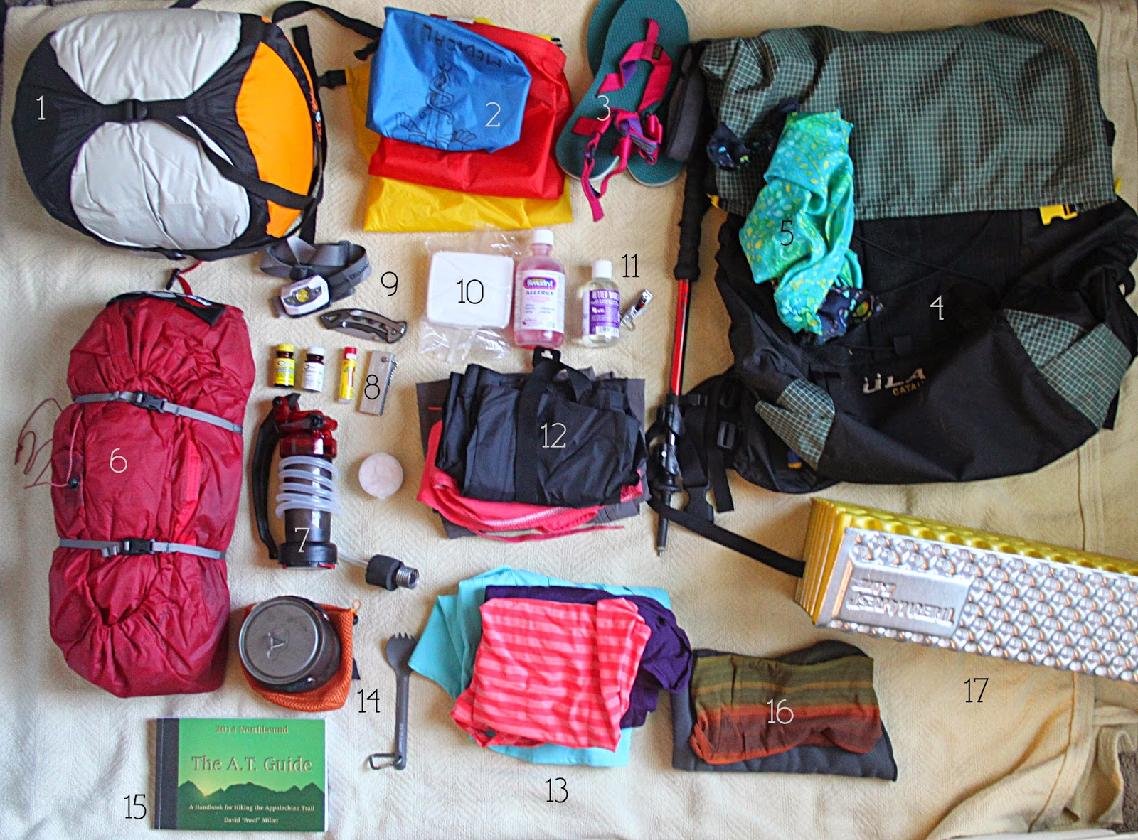 Gear List For My Nobo Appalachian Trail Thru Hike
