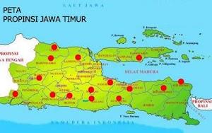 Nama Kota & Kabupaten di Jawa Timur