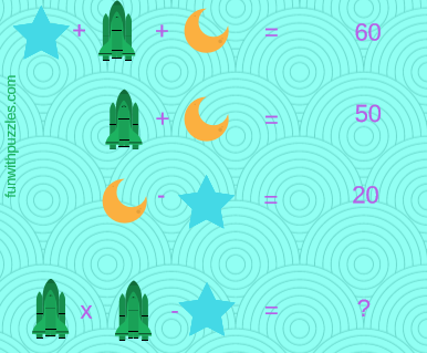 Mathematics Equations Riddle-Astronomy