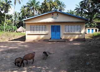 The renovated health center of Koba M'bendia.