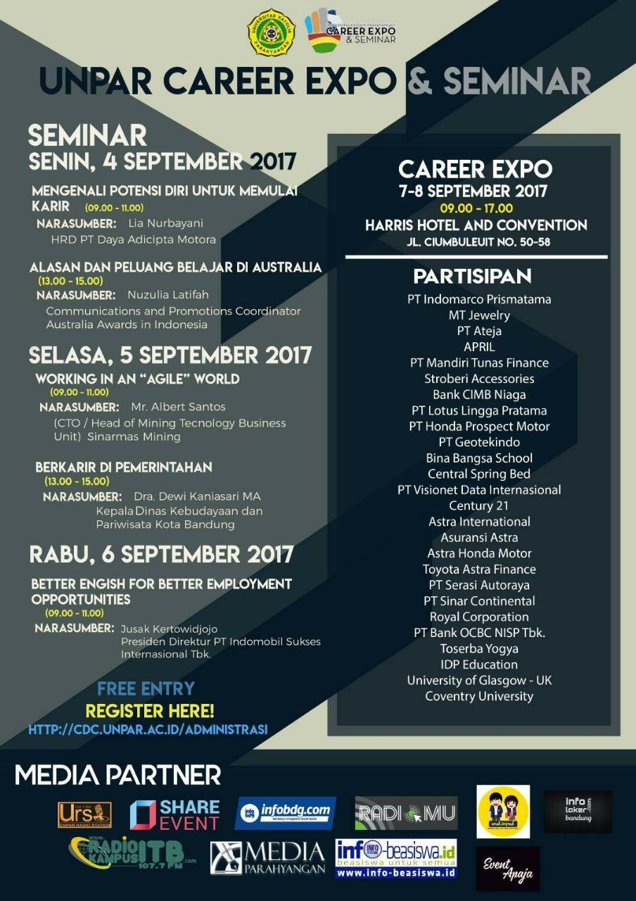 Unpar Career Expo & Seminar Agustus 2017