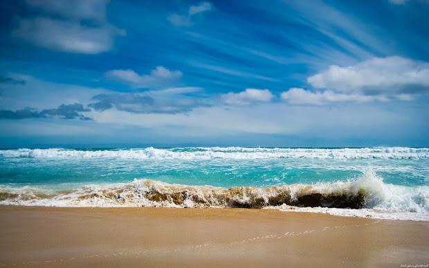 Beaches Ocean Waves Backgrounds