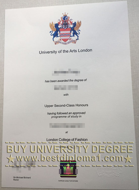 University of Arts London diploma