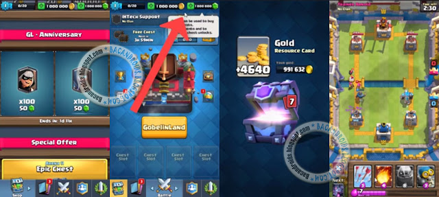 Download Game Clash Royale Apk Mod Unlimited Coins Mod Gems v1.8.6 Terbaru Work For Android
