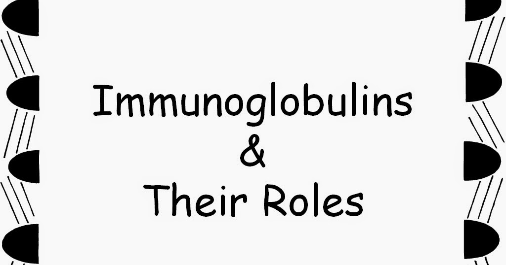 Student Survive 2 Thrive: Immunoglobulins and Their Roles
