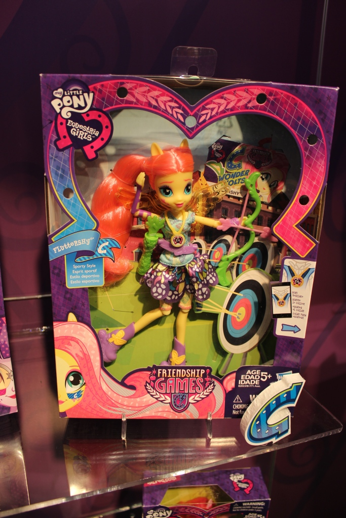 Equestria Girls Friendship Games Fluttershy Archery Doll at NY Toy Fair 2015
