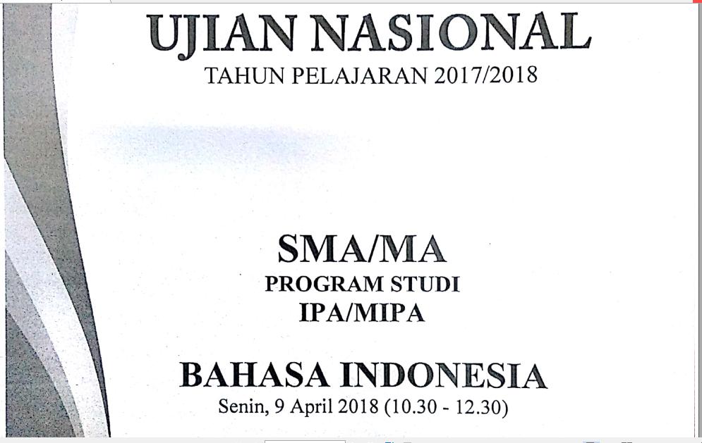 Pembahasan Soal Un Bahasa Indonesia Sma Ma Tahun 2017 2018 Nomor 33 Kalimat Esai Zuhri Indonesia