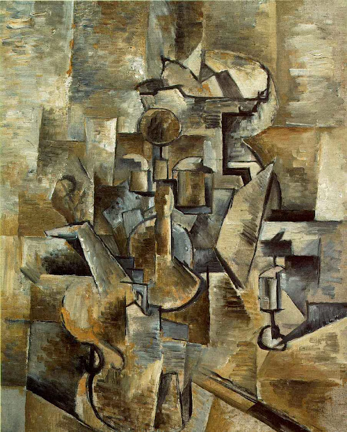 Georges Braque Violin and Candlestick