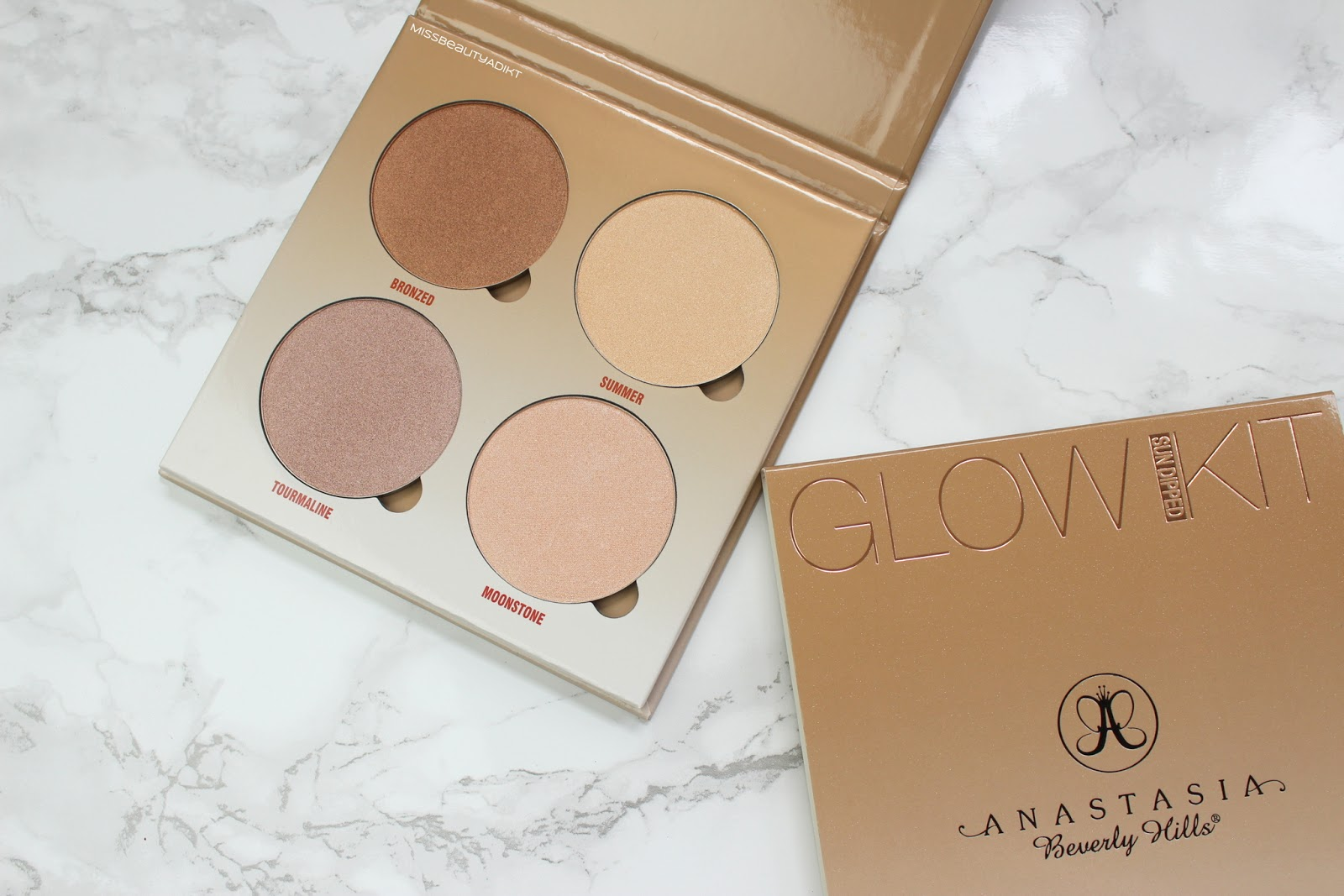 Anastasia Beverly Hills Sun Dipped Glow Kit Review + Swatches