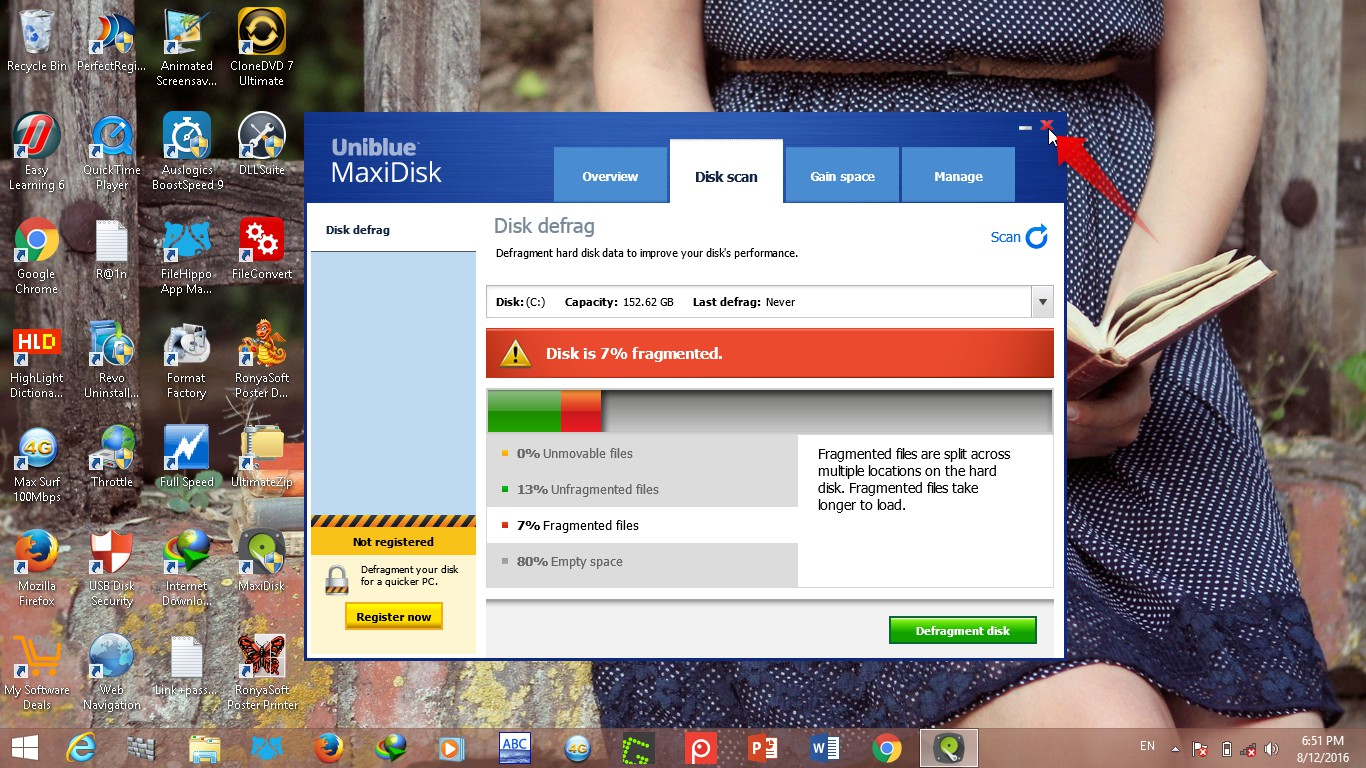 Uniblue maxidisk 2016 maxidisk is a defrag and space saver which cleans and defragments the hard disk simplifies hard disk maintenance and system