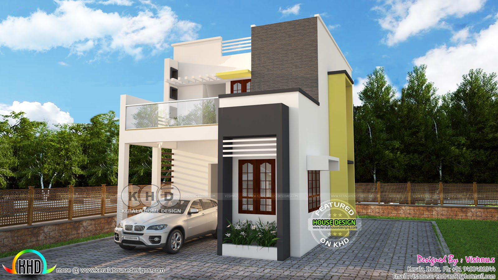 1350 Square Feet Flat Roof 3 Bedroom Home
