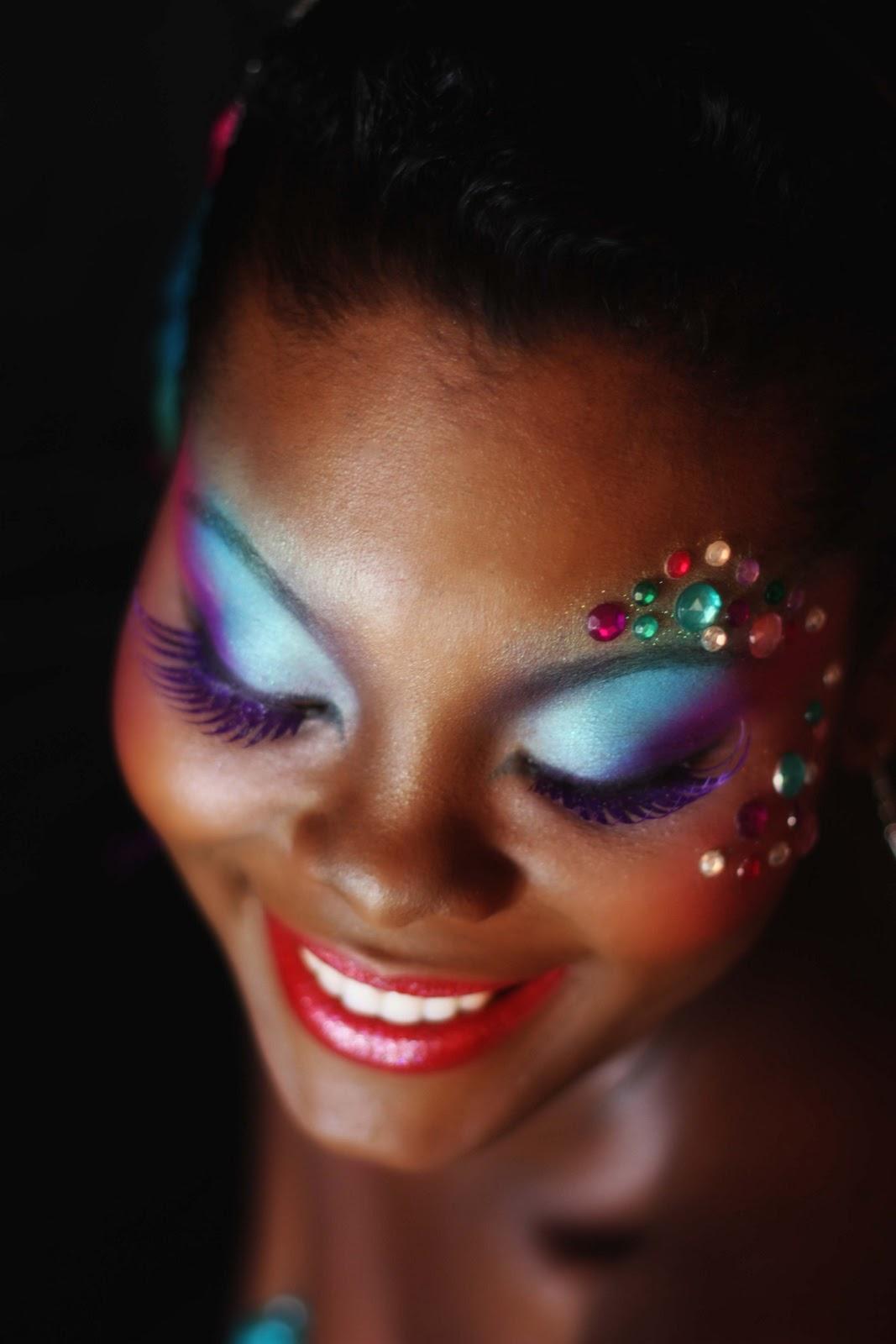 Komplekshuns By Kalifa P: Carnival Makeup....Bacchanalists