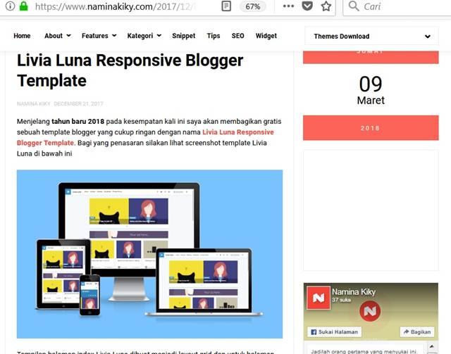 Template Livia Luna : Cocok Buat Yang Gemar Majang Foto dan Image di Blog
