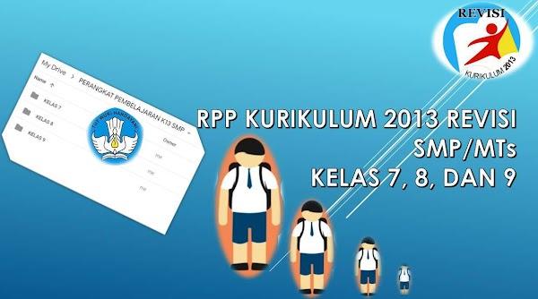 RPP K13 SMP KELAS 7, 8, 9 Versi Kemdikbud (SIAP PRINT)