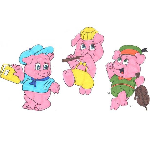 Eccezionale Studiamando liberamente: I tre porcellini, con disegni da colorare HA79