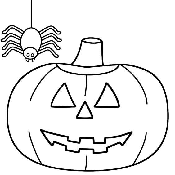 Tranh tô màu quả bí ngô Halloween