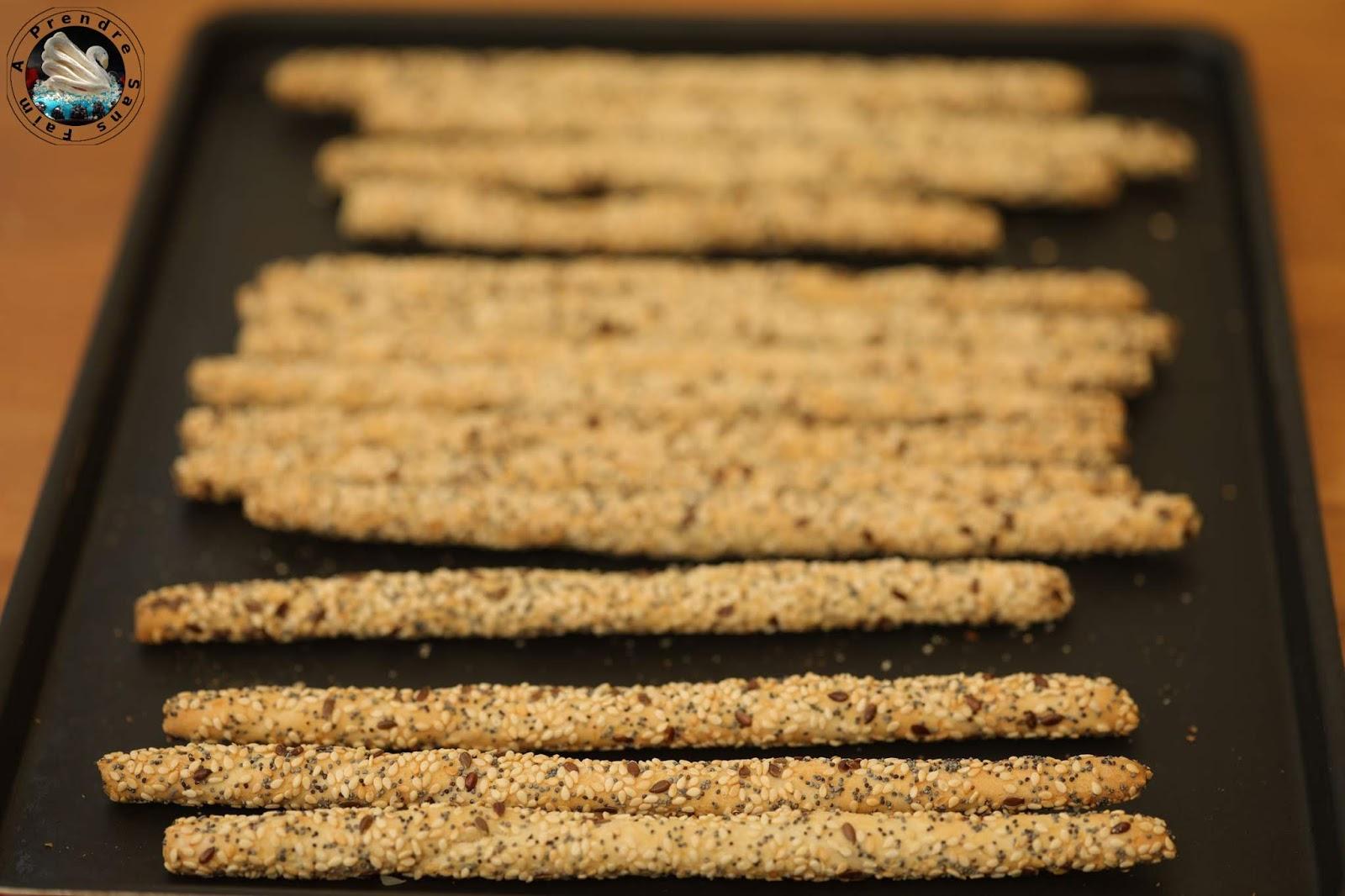 Grissini aux graines