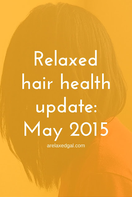 A Relaxed Gal shares an update on the health of her hair for May 2015.   arelaxedgal.com