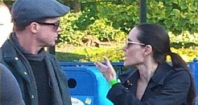 شاهد ماذا حصل بين  أنجلينا جولي و براد بيت في الشارع و لم تلتقطه الكاميرا