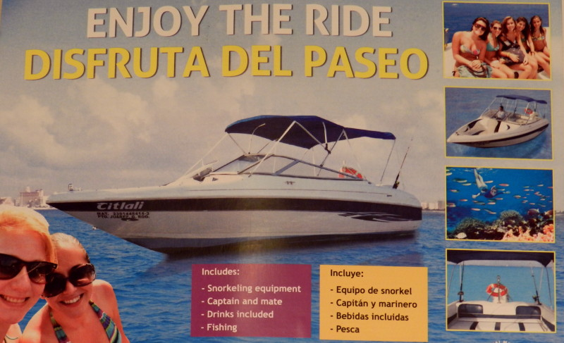 Paseo en bote a  Isla Mujeres