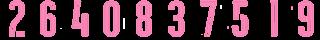 10 Kit Numbers Puma 2017