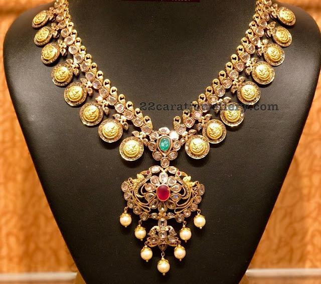 Pachi Necklace with Lakshmi Coins