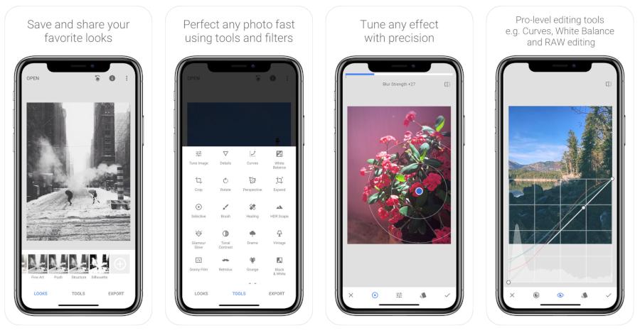 Miglior editor di immagini  Snapseed per iPhone